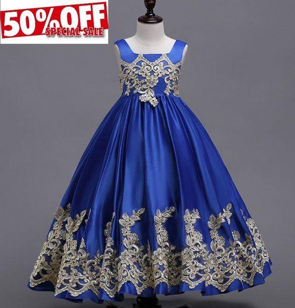 Elegant And High Quality Royal Blue Princess Dresses For Girls
