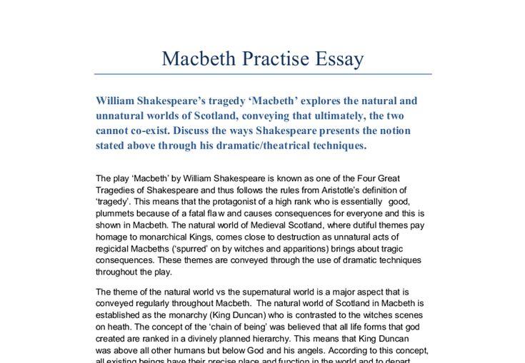 macbeth tragedy essay