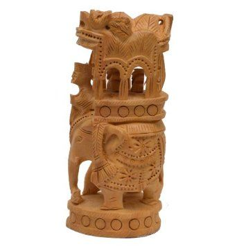 Amazon.com: Decorations for Home Wooden Elephant Figurine Handcrafted Statue: Home & Kitchen