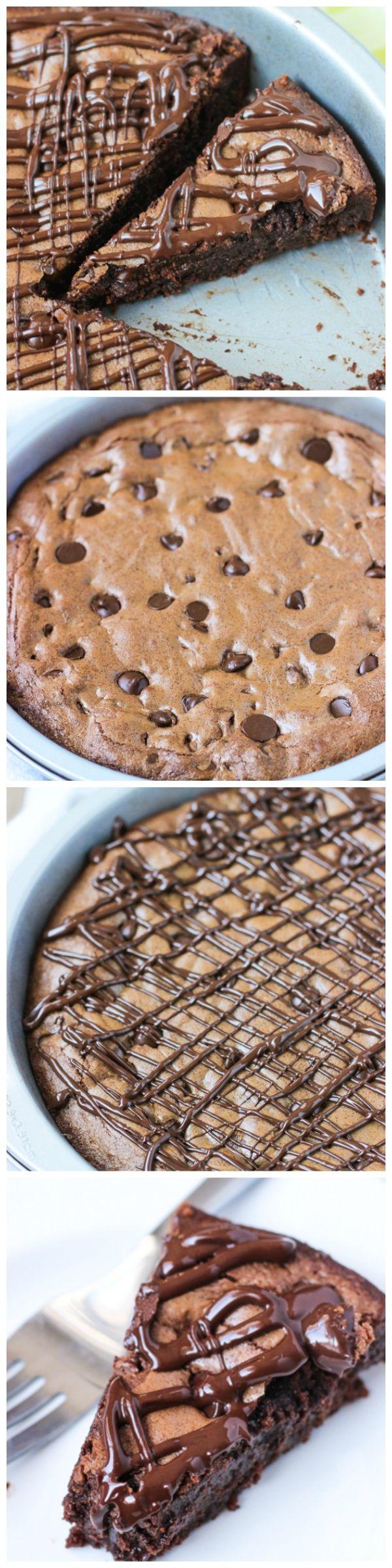 Fudgy Dark Chocolate Brownie Cake