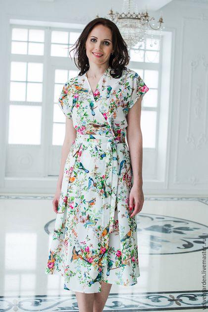 Платья ручной работы. Летнее платье из вискозы. Velvet Garden. Интернет-магазин Ярмарка Мастеров. Летнее платье, вискозное платье