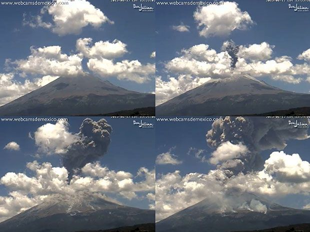 Webcam Captures Volcano Explosion and Shockwave in a Time Lapse Video volcanoshots