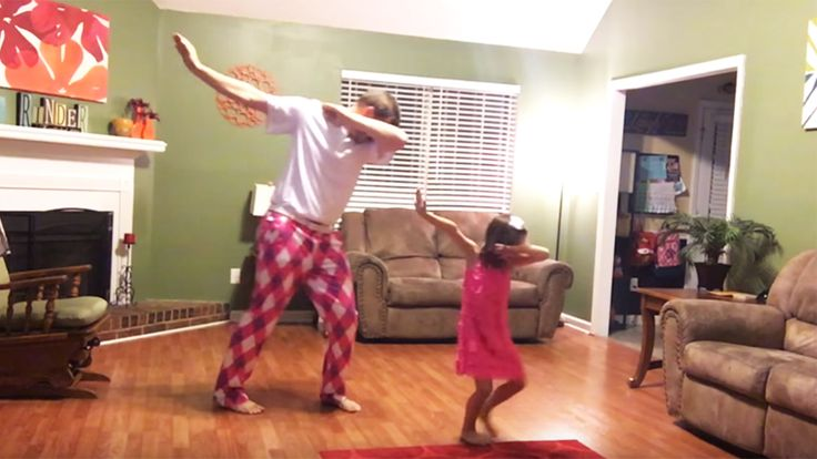 Dad-daughter duo show off adorable moves to Justin Timberlake's latest song