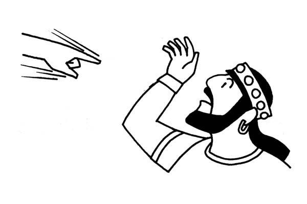 King Nebuchadnezzar Writing On The Wall Coloring Pages