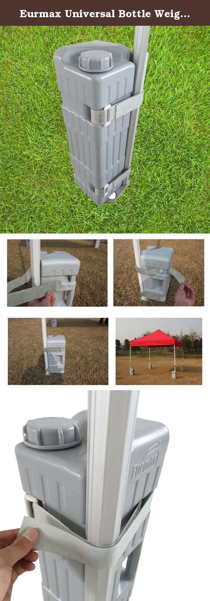 Eurmax Universal Bottle Weight Feet 2pc-pack for Pop up Canopy Tent. Adaptable to: Most instant canopy and pop-up structures in the market include Eurmax Instant Canopy, Caravan Instant Canopies, Impact Instant Canopies, E-Z UP Instant Shelters, Quick Shade, Costco, Sam's Club etc.