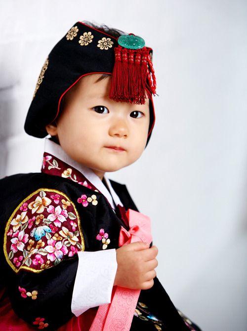 Korea, Baby girl's #hanbok
