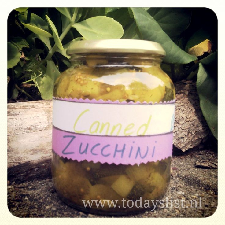 Canned Zucchini on MyRecipeMagic.com  also featured on www.todayslist.nl