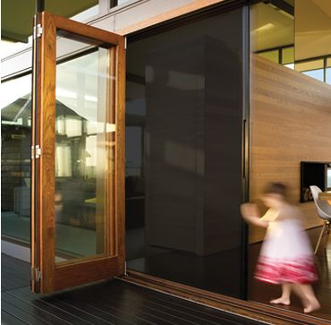 Centor\u0027s unobtrusive folding blind system allows you to control privacy sunlight and temperature with the & 21 best Centor Integrated Doors images on Pinterest | Folding doors ...