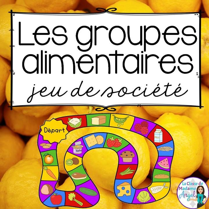 """FREEBIE!  Fun free game to play and practice """"les 4 groupes alimentaires""""!  Based on Canada Food Guide in French!"""