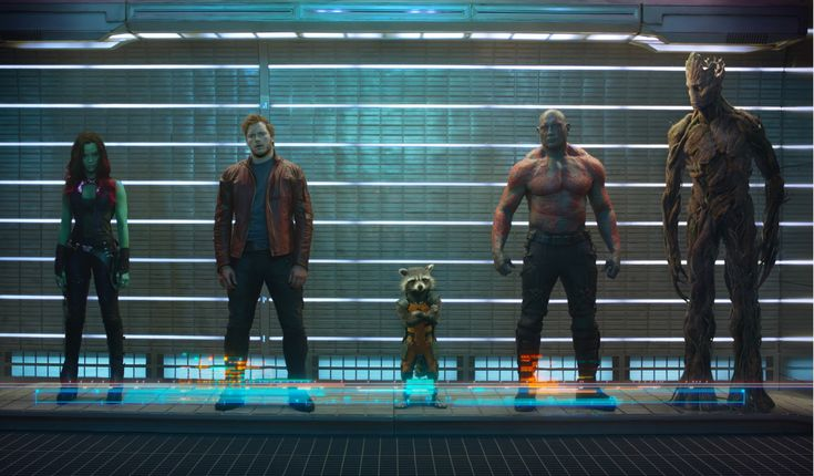 "First Official (unfinished?) GUARDIANS OF THE GALAXY Still Debuts - Fan quote, ""If the Avengers are The Beatles, the GotG are The Rolling Stones."""
