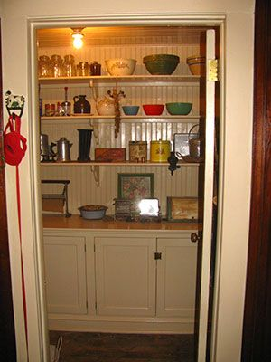 Pantry - 1910 Victorian house restoration photos in Freehold NJ.