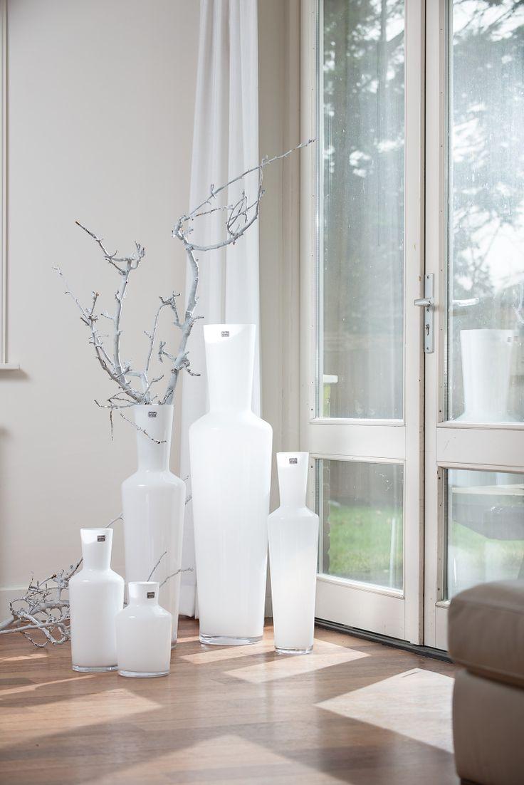 Vase Brody white