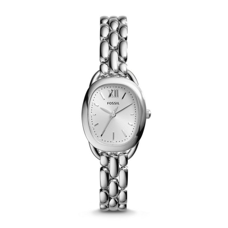 nice Montre pour femme : Sculptor Three-Hand Stainless Steel Watch