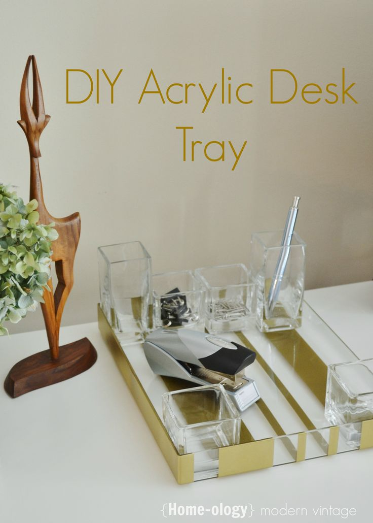 diy acrylic desk tray diy home decor accessories