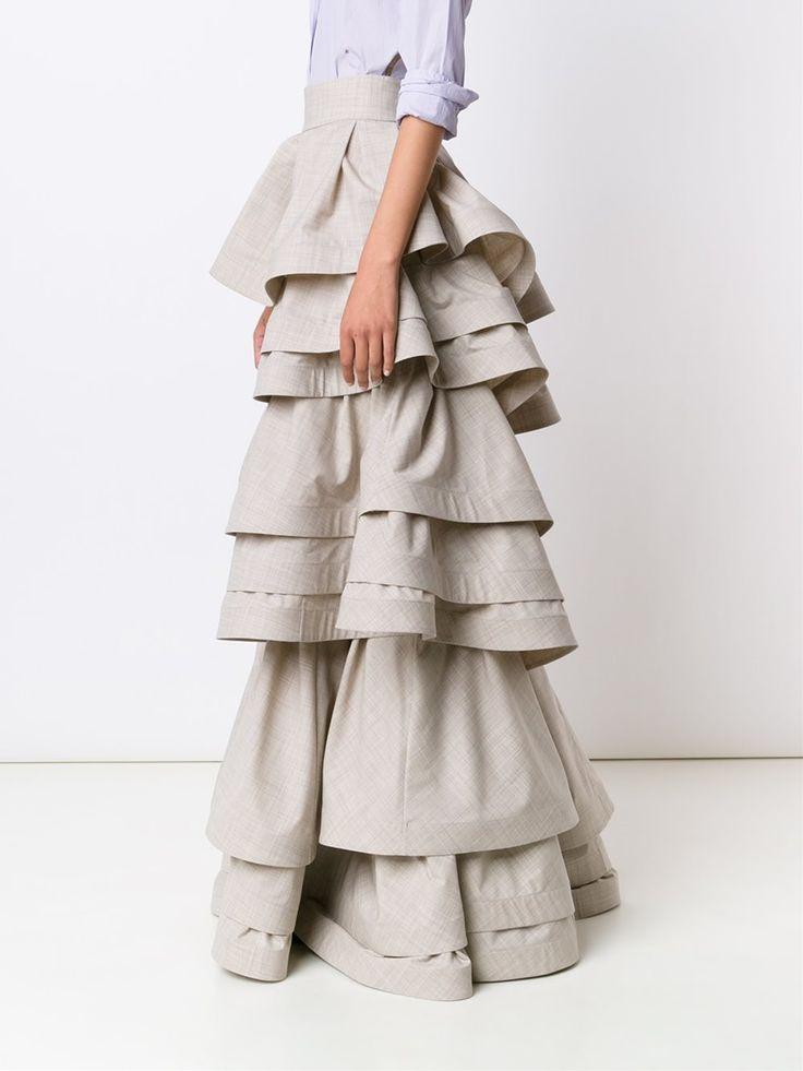 Rosie Assoulin юбка с трехслойными рюшами