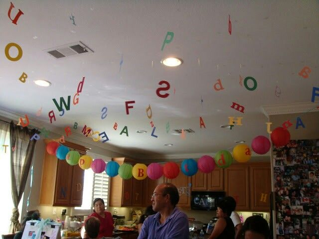 Alphabet theme birthday party