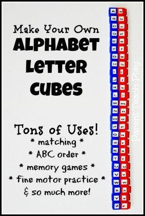 alphabet letter cubes