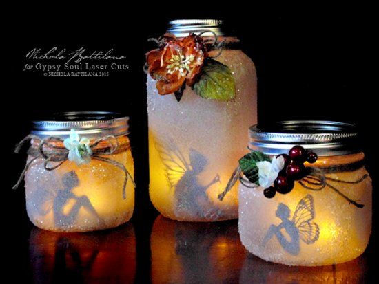 Making a decorative lantern with your kids or as a gift is a super fun project. A great idea is to use a mason jar to make this beautiful fairy lantern.