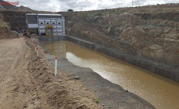 Águas da Transposição chegam a última Estação de Bombeamento antes de Monteiro