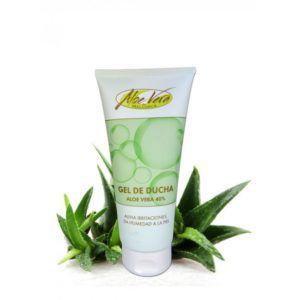 Biologische Aloë Vera Douchegel.  200 ml Verfrissende en beschermende douchegel met aloë vera en panthenol. Met zijn frisse geur reinigt en verzorgt hij, zonder de aanval op de natuurlijke beschermende zuurmantel van de huid. Het is ook zeer nuttig voor de droge huid die snel geïrriteerd is.