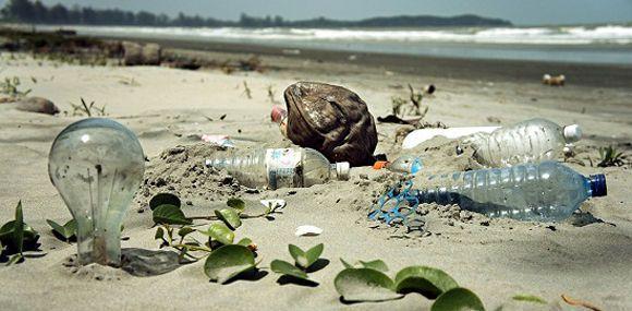 Científicos de Cuba y Suiza evaluarán contaminación por plásticos en costas cubanas. Basura plástica en las costas. Foto: Ecoosfera.