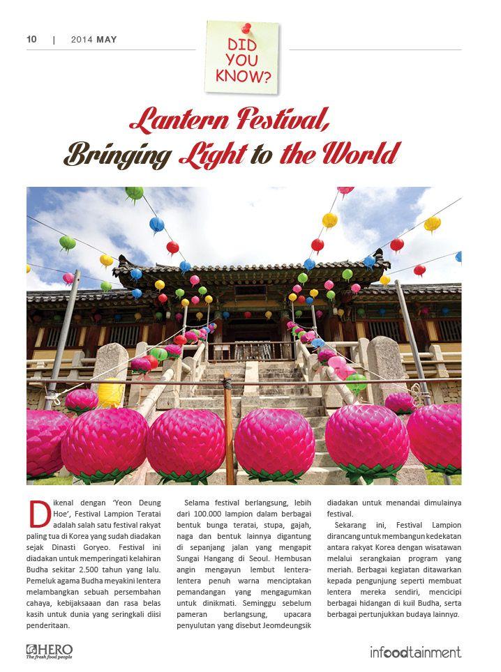 #DidYouKnow Fresh People, Festival Lampion Teratai merupakan salah satu festival tertua yang ada di Korea.