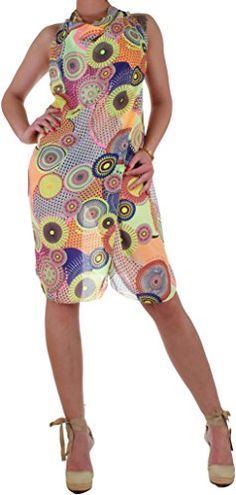 BD Kleid Damen Sommerkleid Wickelkleid M2