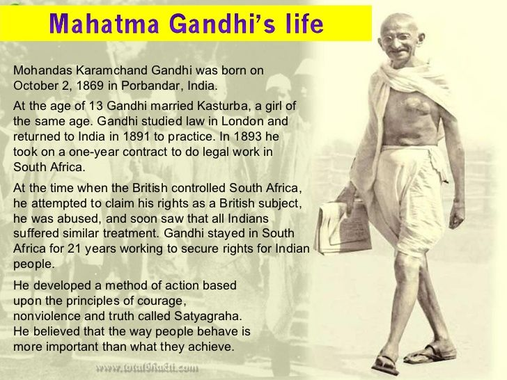 Brief Biography Of Mahatma Gandhi In English - Best opinion