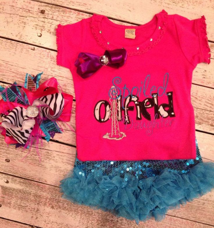 Spoiled oilfield daughter onesie with matching bow http://facebook ...