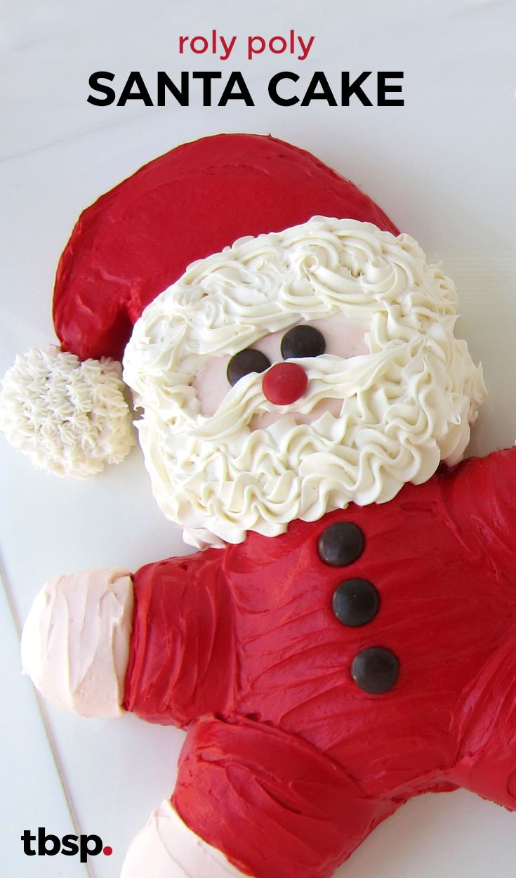 Here comes Santa Claus! He's roly poly and adorably sweet and will make a whimsical addition to your Christmas party or dinner.
