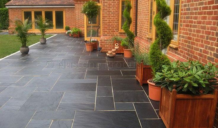 Image result for slate patio slabs