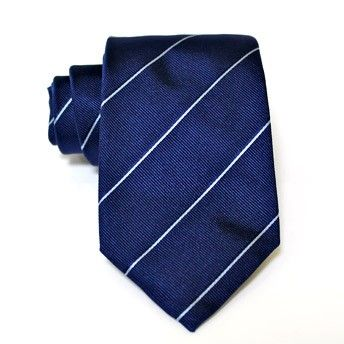 Jacquard tie, 100% silk, blue with oblique azure stripes. Ideal for less formal occasions but also special occasions. Pattern and color of this elegant tie can fit with any outfit.