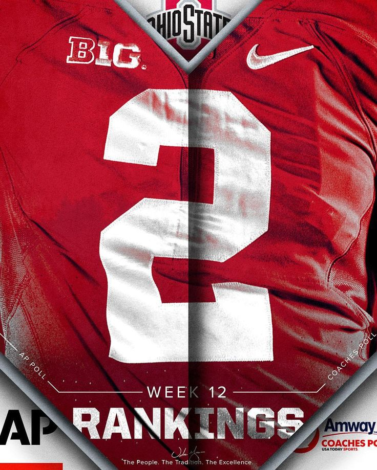 Moving on ⬆️! The Buckeyes are ranked No. 2 in both the AP Top 25 & Amway Coaches Polls.