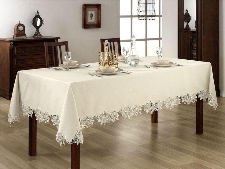 Sandy Masa Örtüsü leke tutmayan % 100 dertsiz kumaştan üretilmiştir. Masa örtüsü hem şık hem zarif olsun isteyenler için tasarlanmıştır.