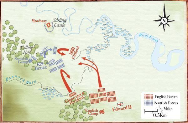 The Battle of Bannockburn, 1314 - Military History Monthly Battle Maps