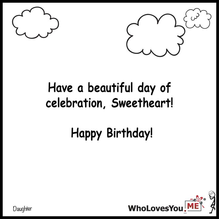 Have a beautiful day of celebration Sweetheart Happy- http://WhoLovesYou.ME #gigeo #birthday #greetings #quotes