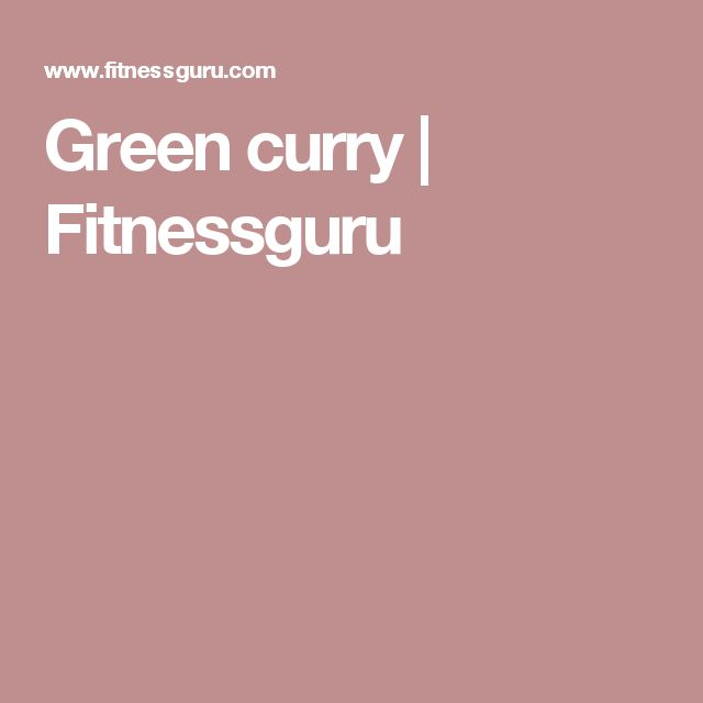 Green curry | Fitnessguru