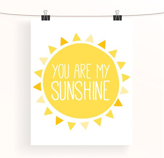 Brighten your babys nursery up with this adorable You are my sunshine print! Check out all the prints within the Sunshine collection: