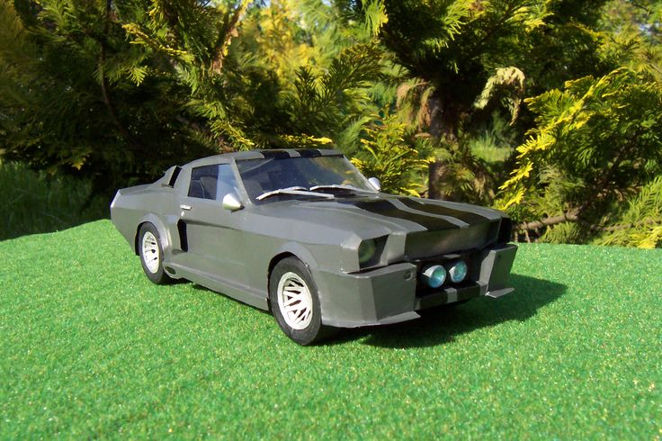Paper model Ford Mustang GT 500 Eleonor