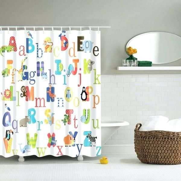Kids Shower Curtains Ideas Your Kids Will Love With Images Kids Shower Curtain Bathroom Shower Curtains