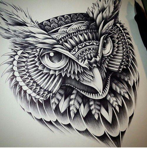 Image via We Heart It https://weheartit.com/entry/160505245 #animal #art #bird #black&white #draw #drawing #hibou