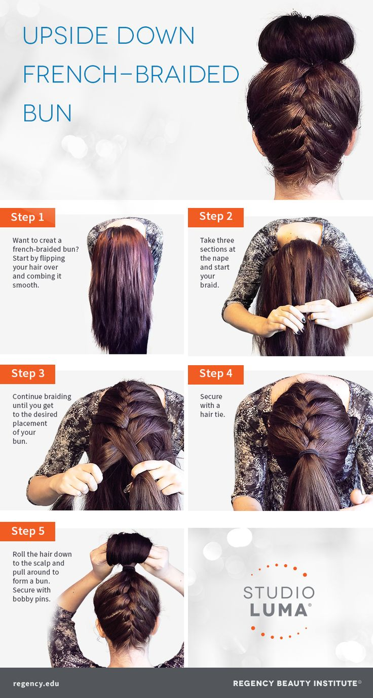 Try This Take On The Topknot Trend! A Frenchbraided Bun!