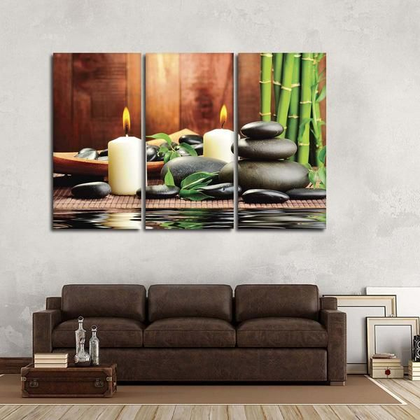 Zen Bamboo Spa Multi Panel Canvas Wall Art Canvas Wall Art Wall Canvas Custom Wall Art