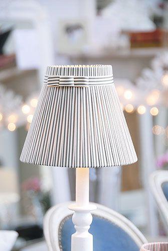 Pretty striped lampshade