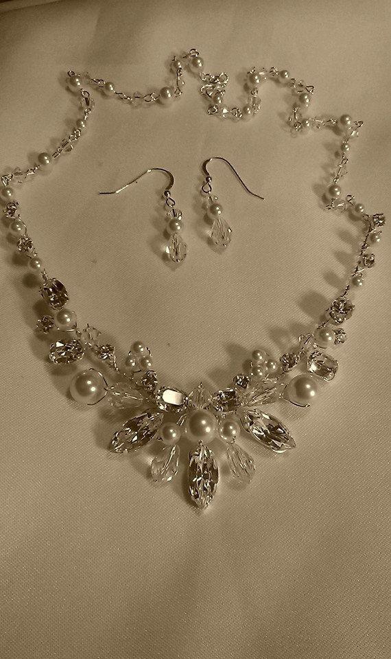 Elegant Handmade swarovski bridal / wedding tiara ivory /