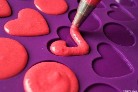 Macarons zum Valentinstag, backen, Anleitung und Rezept