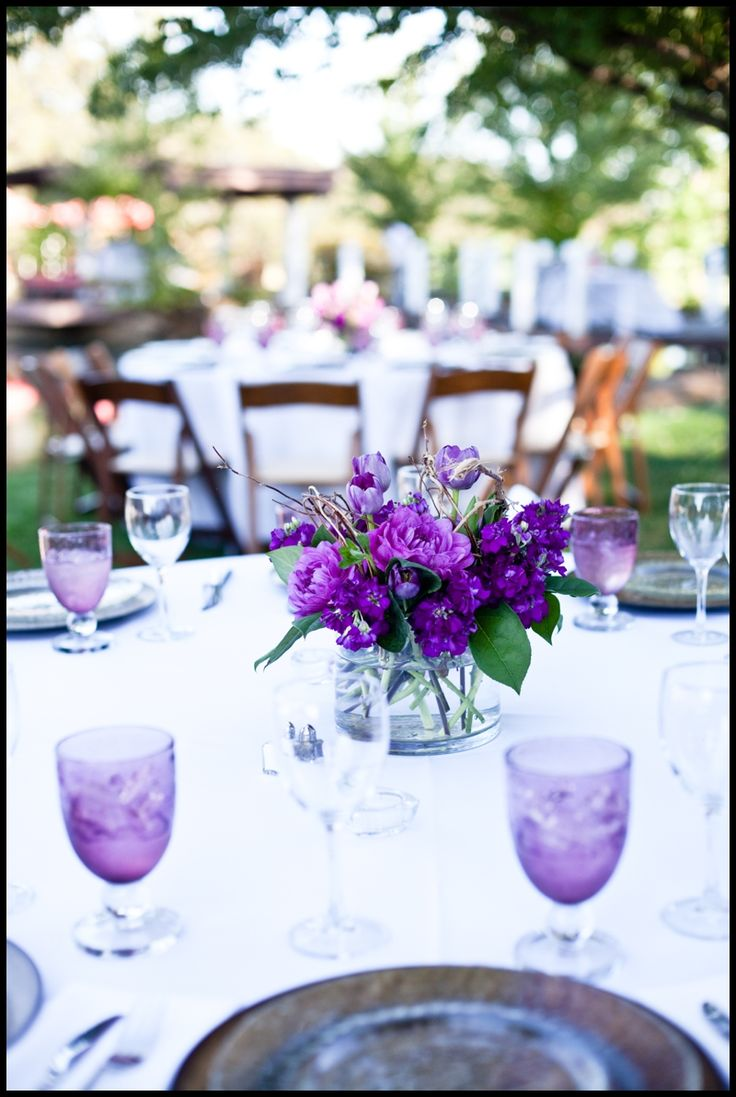 Ideas about purple centerpiece on pinterest