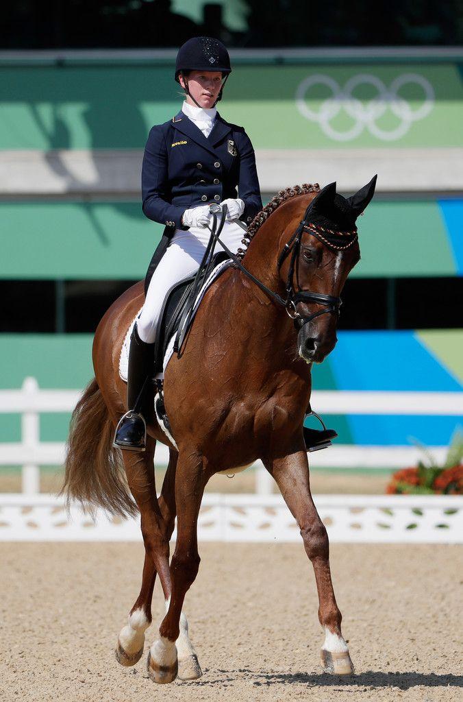 DAY 1 - EQUESTRIAN: Individual Eventing Dressage - Sandra Auffarth of Germany riding Opgun Louvo