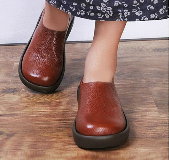 Handmade Flat Shoes for Women, Casual Shoes, Soft Shoes, Leather Shoes