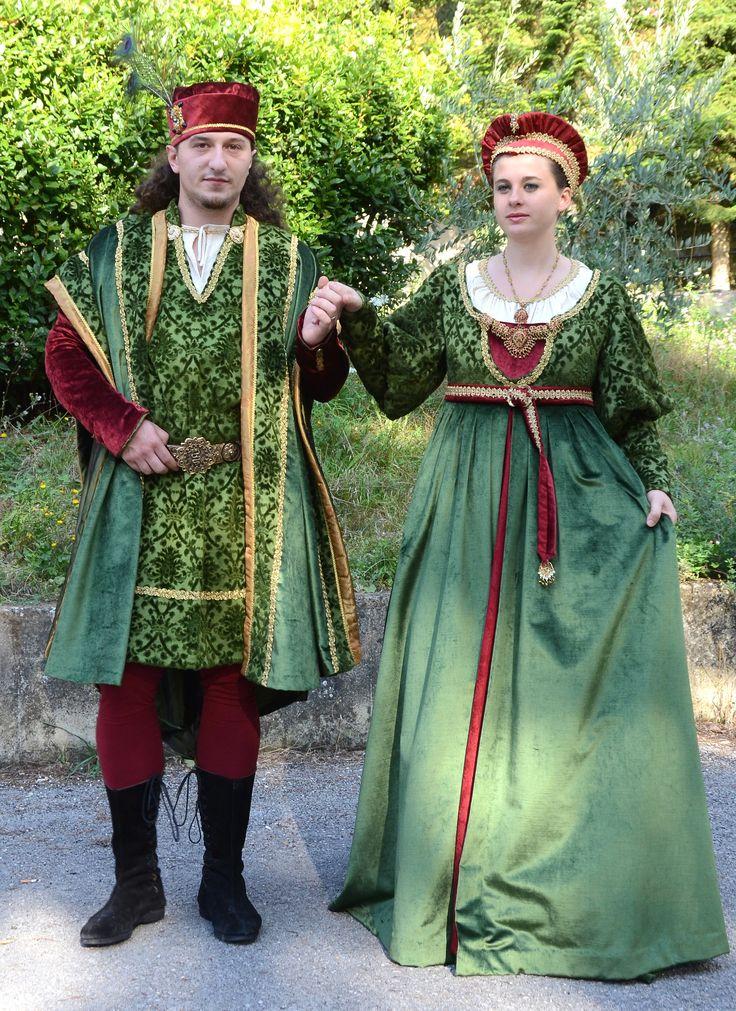 costumi storici seconda metà del Quattrocento